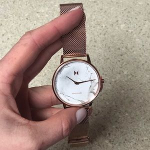 Rose gold marble MVMT for her watch